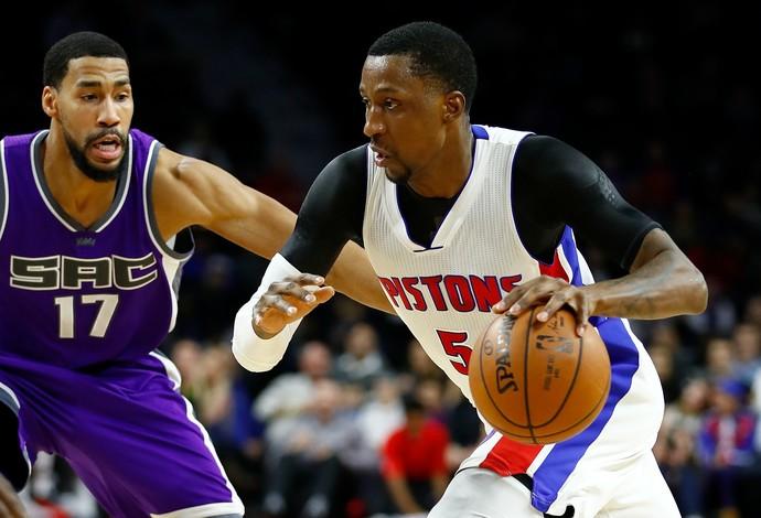 Pistons e Kings se enfrentaram nesta segunda-feira (Foto: Gregory Shamus/Getty Images)