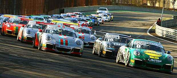 Uma das etapas do Campeonato Sul-Americano da Porsche GT3 Cup Challenge em Interlagos. (Foto: Divulgação/PorscheGT3Cup)