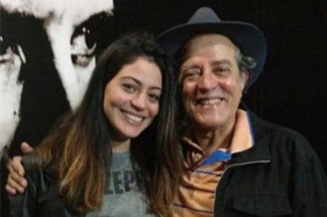 Carol Castro com o pai, o ator Luca de Castro (Foto: Divulgação)