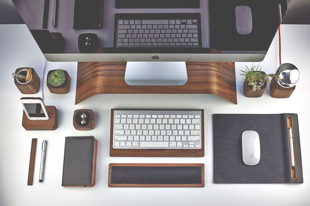 Graphic Designer S Desk With Computer Keyboard
