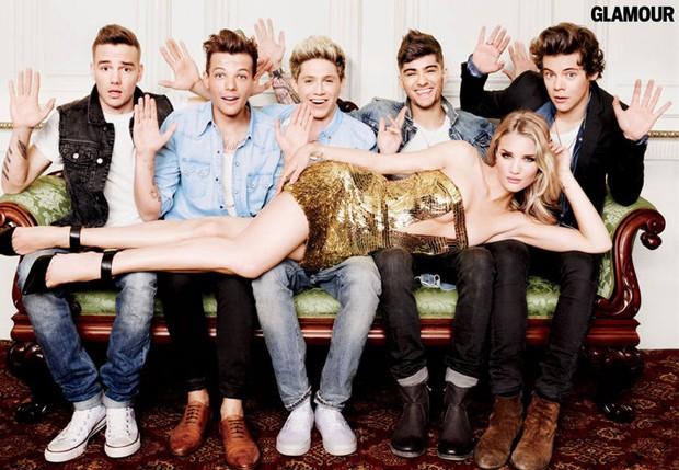 Rosie Huntington-Whiteley e One Direction (Foto: Reprodução)