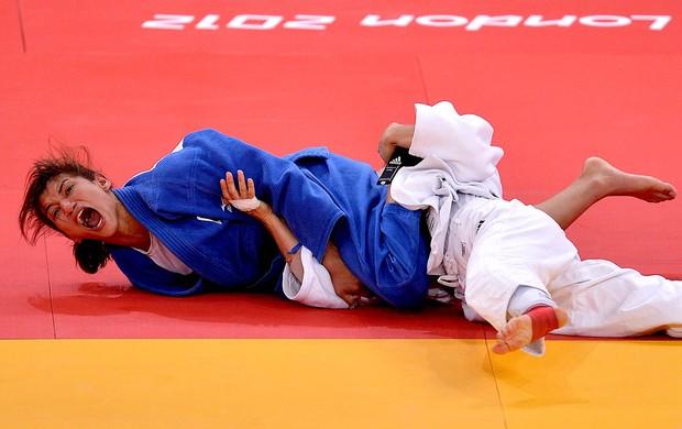 judô Sarah Menezes Alina Dumitru final olímpica medalha de ouro (Foto: Agência AFP)