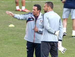 Diego cavalieri e Luxemburgo treino Fluminense (Foto: Roberto Filho)