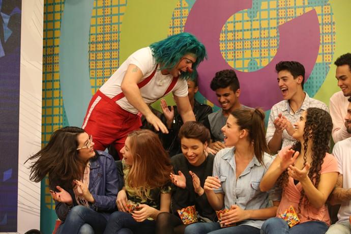 O palhaço Pitufim divertiu a nossa plateia (Foto: Luiz Renato Correa/RPC)