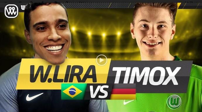 Wendell Lira faz 7 a 1 em alemão vice-campeão mundial de Fifa (Foto: Reprodução)