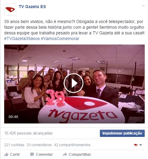 Aniversário TV Gazeta (Foto: Divulgação/ TV Gazeta)