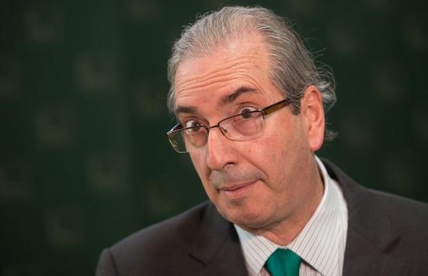 O presidente da Câmara, Eduardo Cunha, fala à imprensa (Foto: Marcelo Camargo/Agência Brasil)