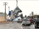 Em Balsas, destroços de cobertura de estádio põem em risco população