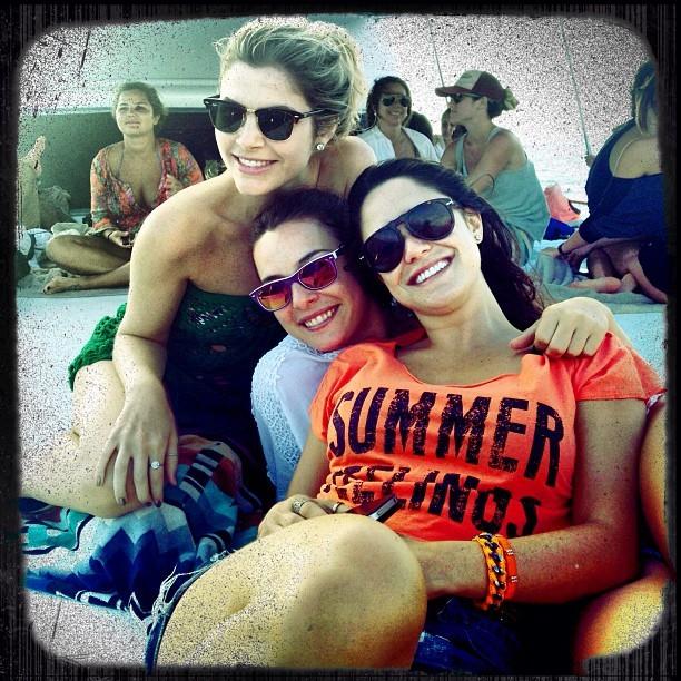 Julia, Regiane e Vasconcellos (Foto: Reprodução)