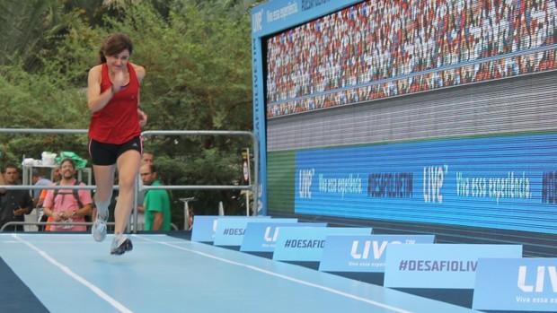 Corredora desafio Bolt (Foto: Igor Christ/Eu Atleta)