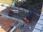 Caminhonete pega fogo na Zona Sul de Natal; 'não foi criminoso', diz Sesed