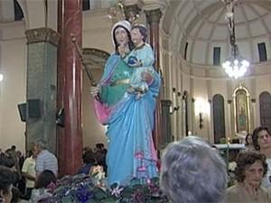 Dia de Nossa Senhora da Abadia tem programação especial em Uberaba e Uberlândia (Foto: Reprodução/TV Integração)