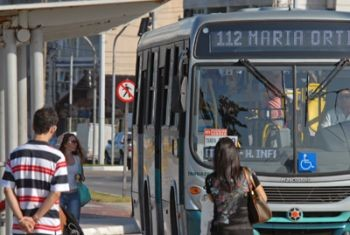 Ônibus em Vitória. (Foto: Elizabeth Nader / Divulgação PMV)