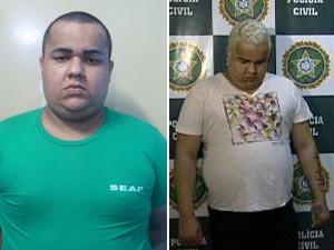 Pai Bruno cortou cabelos e assumiu os fios escuros na prisão (Foto: Divulgação/Seap e Reprodução/ TV Globo)