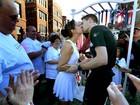 Casal americano se casa durante Maratona de Chicago