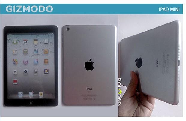 Site 'Gizmodo' mostra supostas imagens do iPad Mini (Foto: Reprodução)