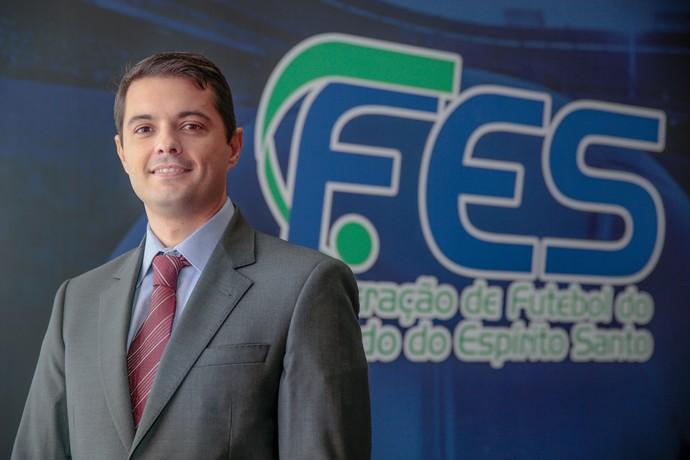Gustavo Vieira, presidente da Federação de Futebol do Estado do Espírito Santo (FES) (Foto: Jussara Martins/FES)