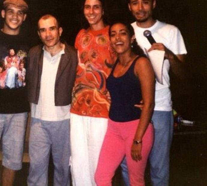 Vocalista da POWERTRIP com Samantha Schmütz em musical há 16 anos (Foto: Arquivo pessoal)