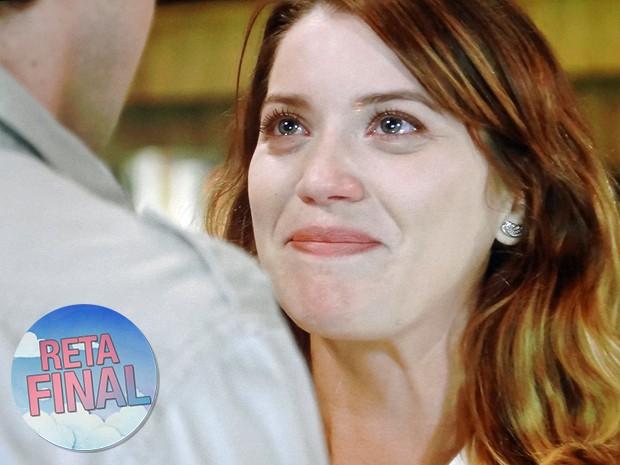 Laura ficará radiante com fim do casamento com Marcos (Foto: TV Globo)