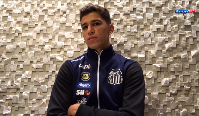Vitor Bueno, do Santos (Foto: Reprodução SporTV)
