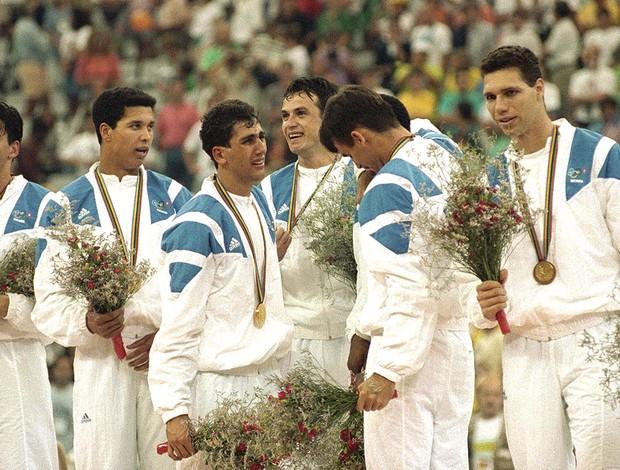 Marcelo Negrão, Vôlei, 1992 (Foto: Fábio M Salles / Agência Estado)
