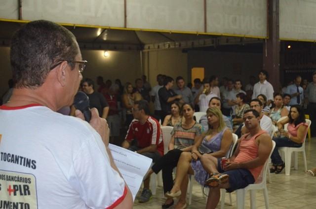 Bancários do Tocantins continuam em greve (Foto: Dilvulgação/Sintec-TO)