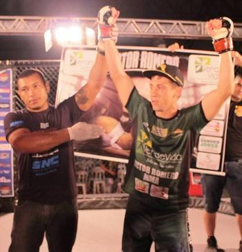 Victor Romero no Náuas Combat de MMA (Foto: Victor Romero/Arquivo Pessoal)
