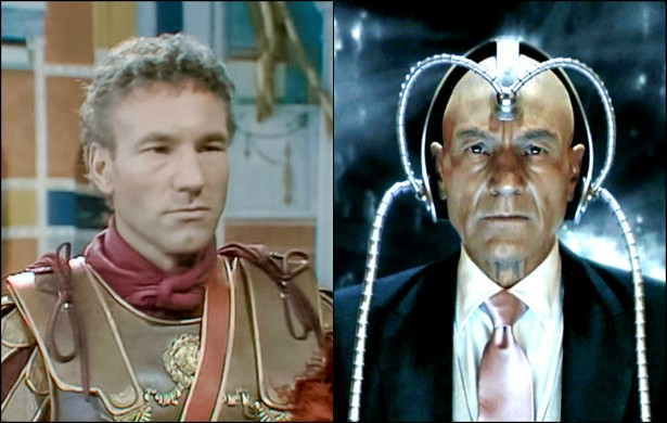Atualmente, Patrick Stewart, de 74 anos, é sinônimo de seu personagem na franquia 'X-Men', o Professor Charles Xavier. Mas, nos idos de 1976, o ator inglês deu vida ao prefeito da guarda pretoriana Lúcio Élio Sejano (20 a.C. - 31 d.C.) na série épica 'I, Claudius', da BBC. (Foto: Reprodução)