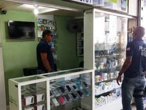 """Aparelhos foram apreendidos em local conhecido como """"Beco de Miguel das Ervas"""" (Foto: Divulgação/ Polícia Civil)"""