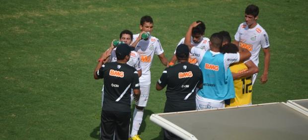 Santos abre o placar contra o São Mateus, pela Copa São Paulo (Foto: Murilo Borges / Globoesporte.com)