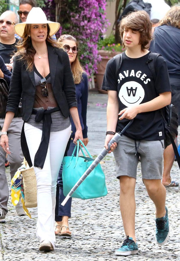 Luciana Gimenez e Lucas Jagger (Foto: Grosby Group)