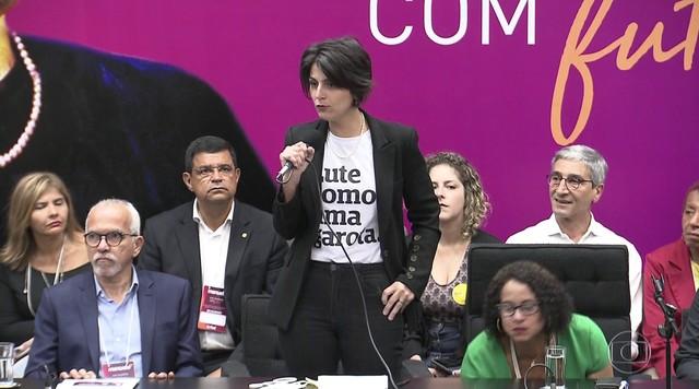 O PCdoB oficializou a candidatura de Manuela D'avila à Presidência