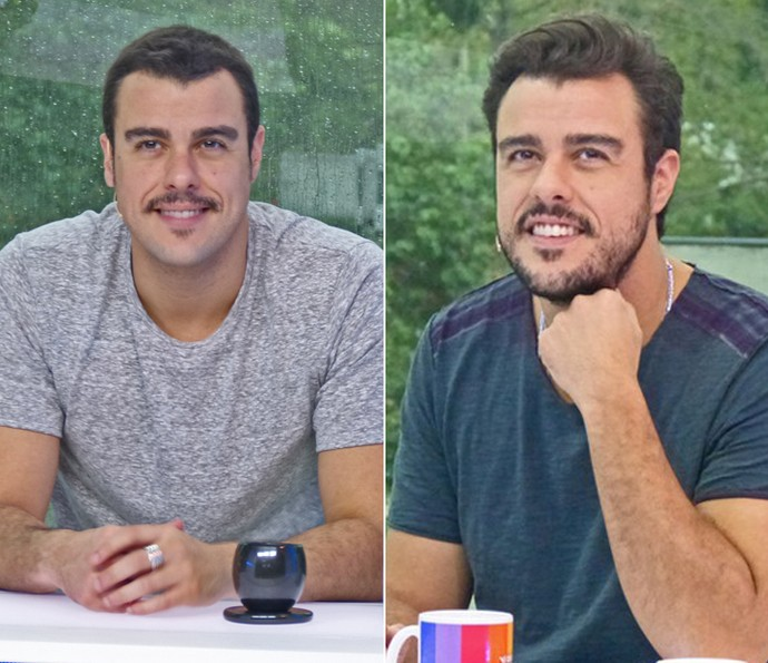 Antes e depois de Joaquim Lopes (Foto: Brunella Menezes / Gshow)