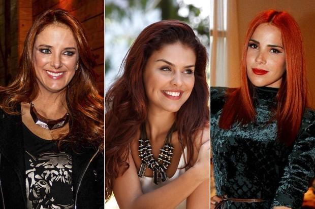 Ruivas - Ticiane Pinheiro, Paloma Bernardi e Wanessa (Foto: Manuela Scarpa / Foto Rio News - Isac Luz / EGO - Paduardo / AgNews)