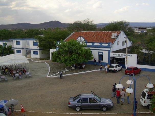 Vista da entrada do Parque da Aza Branca, em Exu, Pernambuco (Foto: divulgacao)