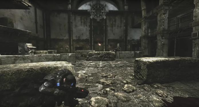 Gears of War 1 contava com visual acinzentado (Foto: Reprodução/YouTube)