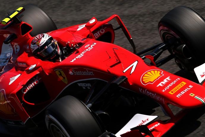 Kimi Raikkonen em ação no treino classificatório para o GP da Itália (Foto: Getty Images)
