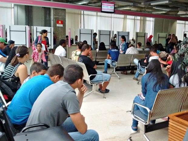 Serviços no Sindcol foi normalizado após pane no sistema de bilhetagem (Foto: Aline Nascimento/G1)