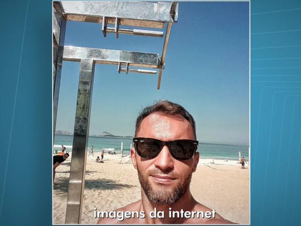 Personal trainer de Brasília que morreu afogado em praia no Rio de Janeiro (Foto: TV Globo/Reprodução)