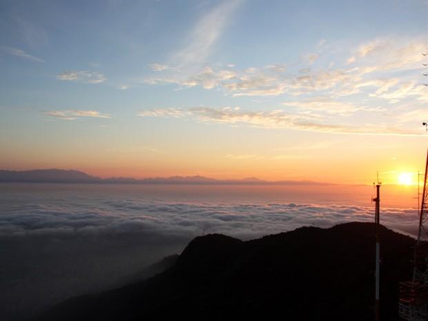 Nevoeiro na cidade do Rio, na manhã desta quarta-feira (12) (Foto: Marcos Estrella/TV Globo)