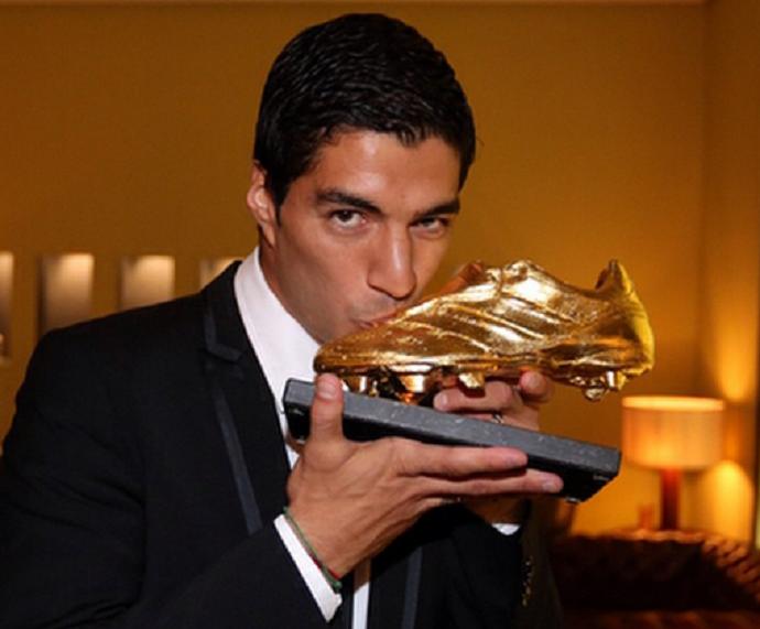 Luis Suárez ganha Chuteira de Ouro (Foto: Reprodução / Instagram)