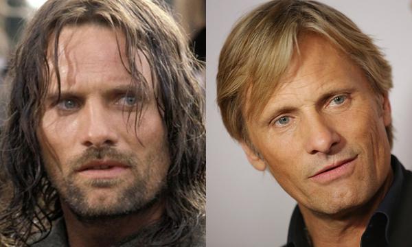 Viggo Mortensen como Aragorn e atualmente (Foto: Divulgação)