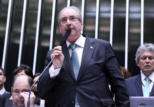 O presidente da Câmara dos Deputados, Eduardo Cunha (PMDB-RJ) vota durante sessão do impeachment (Foto: Antonio Augusto/Câmara dos Deputados)