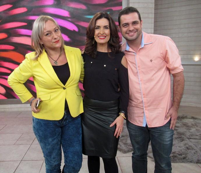 Dupla contou como se conheceu na internet e encontro foi no programa (Foto: Carolina Morgado/Gshow)