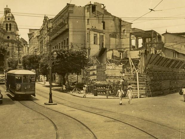 Ladeira de S. Bento - antiga. (Foto: Arquivo Municipal/Fundação Gregório de Matos)