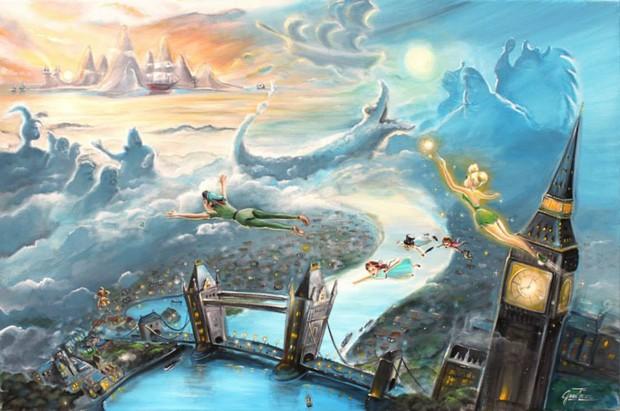 Pintura Peter Pan (Foto: Reprodução)