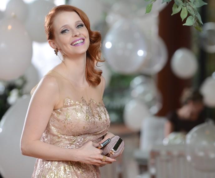 Maria viveu a apresentadora Lara Keller na novela Sangue Bom (Foto: Globo/Zé Paulo Cardeal)