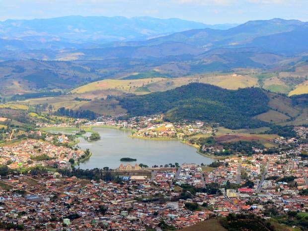 Vista aérea de Lambari (Foto: Joseane Astéreo)