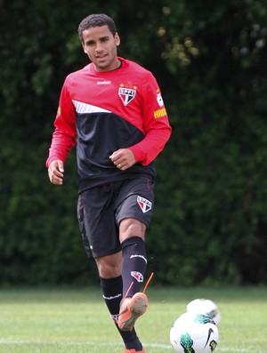 Douglas treino S&#227;o Paulo (Foto: Luiz Pires/VIPCOMM)