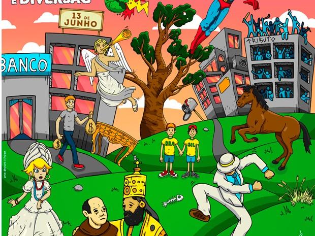 Atrações do festival em 2015 estão escondidas em imagem e serão reveladas por aplicativo (Foto: Divulgaçao/João Rock)
